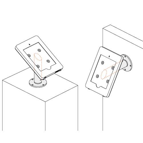 PADW10-Ipad-wand-aansluiting